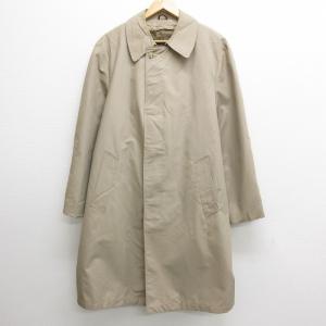 XL/古着 長袖 ステンカラー コート 80s シアーズ 内側ボア ロング丈 ベージュ カーキ 21...