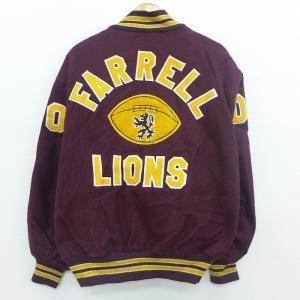 XL/古着 長袖 スタジャン 90s デロング FARRELL LIONS フットボール 大きいサイ...