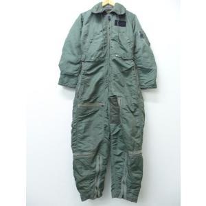W33/古着 ビンテージ ツナギ CWU-1/P USAF コの字留め 緑 グリーン 18nov16...