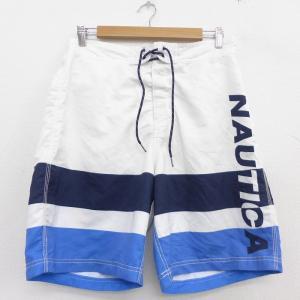 W33/古着 ノーティカ NAUTICA ブランド 水着 スイム ショーツ ショート パンツ メンズ...
