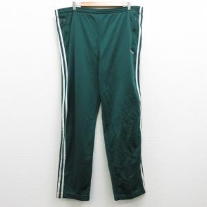 W43/古着 ジャージ パンツ 90s アディダス adidas ワンポイントロゴ 大きいサイズ 緑...