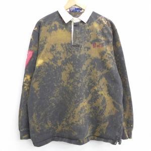 XL/古着 長袖 ブランド ラガー シャツ 90s ラルフローレン Ralph Lauren ワンポ...