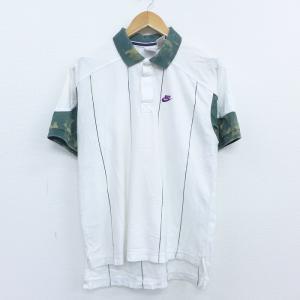 M/古着 半袖 ブランド ラガー シャツ 00s ナイキ NIKE ワンポイントロゴ 大きいサイズ ...