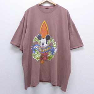XL/古着 半袖 ビンテージ サーフ Tシャツ 90s ディズニー DISNEY ミッキー MICK...