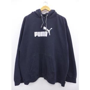XL/古着 長袖 ブランド スウェット パーカー プーマ puma 大きいサイズ 黒 ブラック 19...