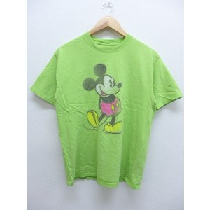 M/古着 Tシャツ ディズニー DISNEY ミッキー MICKEY MOUSE 緑 グリーン 19...