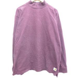 XL/古着 長袖 Tシャツ カーハート Carhartt ハイネック モックネック 大きいサイズ エ...