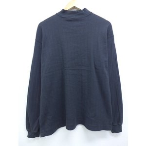 XL/古着 長袖 ブランド Tシャツ ランズエンド 無地 コットン モックネック ハイネック 大きい...