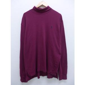 XL/古着 長袖 ブランド Tシャツ ラルフローレン Ralph Lauren ワンポイントロゴ モ...