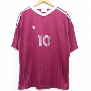 L/古着 半袖 ビンテージ Tシャツ 90s アディダス adidas ワンポイントロゴ リーフ ト...