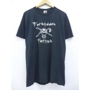 L/古着 Tシャツ アンダーグラウンドソサエティー 黒 ブラック 19aug06 中古 メンズ