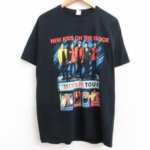 L/古着 半袖 ロック バンド Tシャツ メンズ ニューキッズオンザブロック ソルトンペパー ティフ...