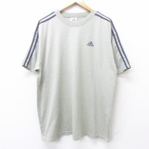 XL/古着 半袖 ビンテージ Tシャツ 00s アディダス adidas ワンポイントロゴ 大きいサ...