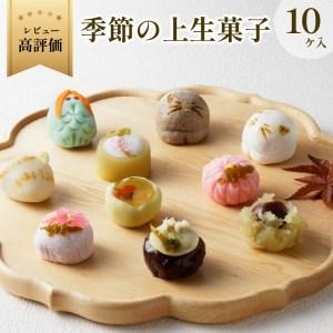 ふるさと納税 猫 NEKO-NO-EN(ねこのえん),季節の上生菓子10ヶ入セット 京都府京丹後市|furunavi