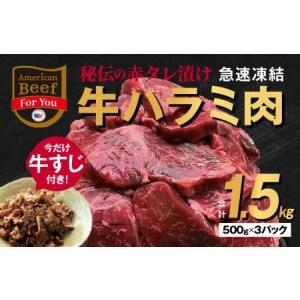 ふるさと納税 010B473 秘伝の赤タレ漬け牛ハラミ肉 大容量1.5kg(500g×3P)コロナ ...