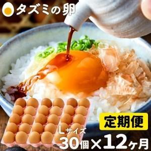 ふるさと納税 060AB01N.タズミの卵Lサイズ(30個×12ヶ月) 兵庫県市川町|furunavi