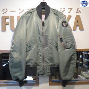 バズリクソンズ/Buzz Rickson's/フライトジャケット/L-2B TOPS APPAREL MFG.CO.,INC.【BR11132】01番色(セージグリーン)|furutaka