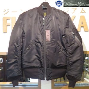 バズリクソンズ/フライトジャケット/Buzz Rickson's William Gibson Collection/ブラック MA-1 スレンダー(レギュラー丈)【BR12666】ステンシルなし・ブラック|furutaka
