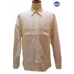 バズリクソンズ Buzz Rickson's ホワイトシャンブレー・ワークシャツ【BR25996】105番色(オフホワイト)|furutaka