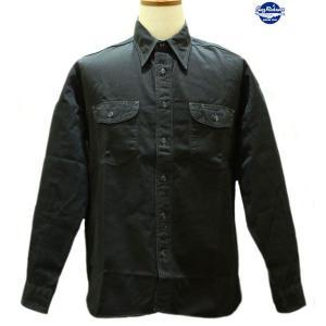 バズリクソンズ Buzz Rickson's ヘリンボーン・ワークシャツ【BR26081】119番色(ブラック)|furutaka