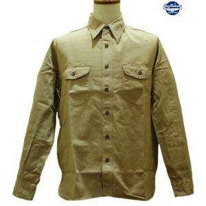 バズリクソンズ Buzz Rickson's ヘリンボーン・ワークシャツ【BR26081】133番色(ベージュ)|furutaka