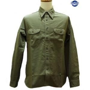 バズリクソンズ Buzz Rickson's ヘリンボーン・ワークシャツ【BR26081】149番色(オリーブ)|furutaka