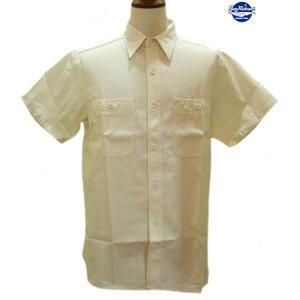 バズリクソンズ Buzz Rickson's ホワイトシャンブレー・半袖ワークシャツ【BR35857】105番色(ホワイト)|furutaka