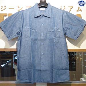バズリクソンズ Buzz Rickson's ブルーシャンブレー・半袖ワークシャツ【BR37911】125番色(ブルー) furutaka