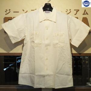バズリクソンズ Buzz Rickson's ホワイトシャンブレー・半袖オープン・ワークシャツ【BR37913】105番色(オフホワイト) furutaka