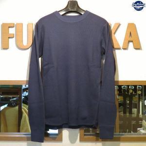 バズリクソンズ Buzz Rickson's 無地長袖サーマルTシャツ【BR63755】128番色(ネイビー)|furutaka