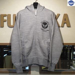 バズリクソンズ/スウェット/Buzz Rickson's/フルジップ・スウェットパーカー/BR65599/113番色(Hグレー)|furutaka