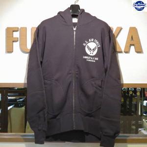 バズリクソンズ/スウェット/Buzz Rickson's/フルジップ・スウェットパーカー/BR65599/119番色(ブラック)|furutaka