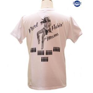バズリクソンズ Buzz Rickson's GIL ELVGREN PISTOL PACKIN MAMA 半袖Tシャツ【BR78024】101番色(ホワイト) furutaka