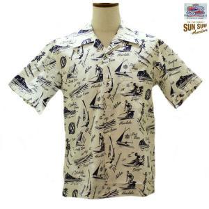 デュークカハナモク アロハシャツ DUKE KAHANAMOKE DUKE WATERMAN'S 半袖ハワイアンシャツ【DK37201】105番色(オフホワイト)|furutaka
