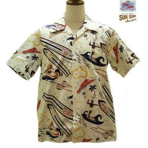 デュークカハナモク/アロハシャツ/DUKE KAHANAMOKE/DUKE'S SURFBOADS コットン半袖オープンシャツ【DK37485】101番色(ホワイト)|furutaka