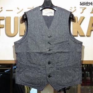 シュガーケーン Sugar Cane コットンコバート・ワークベスト【SC12795】119番色(ブラック)|furutaka