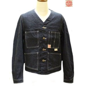【売切れ】ヘッドライト HEADLIGHT 11オンスデニムエンジニアジャケット【HD13018A】421番色(ワンウォッシュ) furutaka