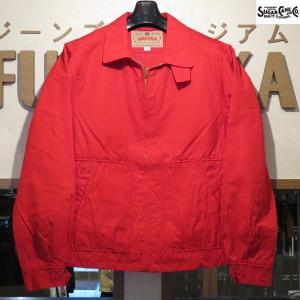 旧価格 シュガーケーン Sugar Cane コットンスポーツジャケット【SC14065】165番色(レッド)|furutaka