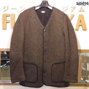 シュガーケーン Sugar Cane ビーチクロス・ノーカラージャケット【SC14285】119番色(ブラック)|furutaka