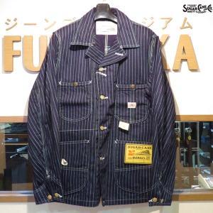 シュガーケーン Sugar Cane 9オンス・ウォバッシュストライプ・ワークコート【SC14372】421番色(ワンウォッシュ)|furutaka