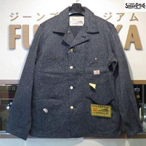 シュガーケーン Sugar Cane 9オンス・ブラックコバート・ワークコート【SC14373】119番色(ワンウォッシュ・ブラック)|furutaka