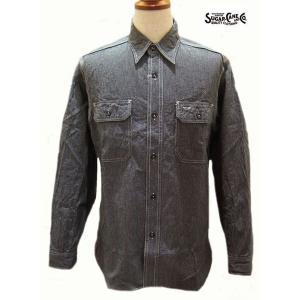 シュガーケーン Sugar Cane ジーンコード長袖ワークシャツ【SC25511】119番色(ブラック)|furutaka