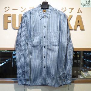 ミスターフリーダム Mister Freedom Made in U.S.A NOS POPLIN CHECK SPORTSMAN SHIRT【SC27635】421番色(ワンウォッシュ・ネイビー)|furutaka