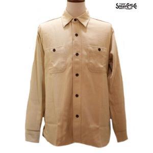 シュガーケーン/ネルシャツ/Sugar Cane/ソリッドツイル長袖ワークシャツ【SC27696】133番色(ベージュ)|furutaka
