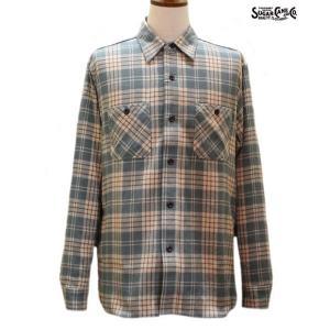 シュガーケーン ネルシャツ Sugar Cane ツイルチェック長袖ワークシャツ【SC27701】145番色(グリーン)|furutaka