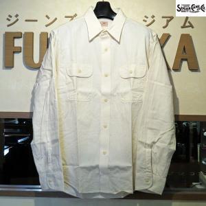 シュガーケーン Sugar Cane シャンブレーシャツ ホワイトシャンブレー長袖ワークシャツ【SC27851】401番色(オフホワイト・ワンウォッシュ)|furutaka