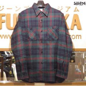 シュガーケーン ネルシャツ Sugar Cane ツイルチェック長袖ワークシャツ【SC27966】145番色(グリーン)|furutaka