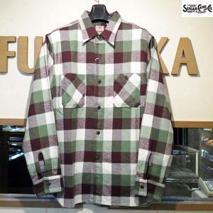 シュガーケーン ネルシャツ Sugar Cane ツイルチェック長袖ワークシャツ【SC27967】145番色(グリーン)|furutaka
