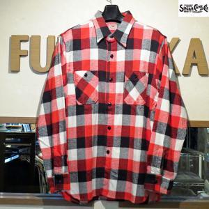 シュガーケーン ネルシャツ Sugar Cane ツイルチェック長袖ワークシャツ【SC27967】165番色(レッド)|furutaka