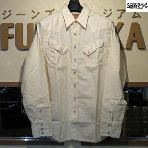 シュガーケーン Sugar Cane シャンブレー長袖ウエスタンシャツ【SC28191】105番色(オフホワイト)|furutaka